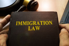 Immigration law. stock photos