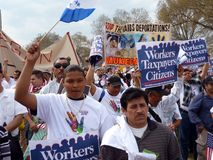 Immigration Law Protest at the Mall Royalty Free Stock Image