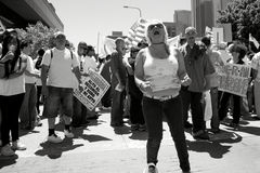 Immigration march Royalty Free Stock Photos