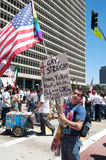 Immigration march in Los Angeles Royalty Free Stock Image