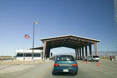 Immigration and Naturalization Service,. INS, roadside stop Route 54, in southern New Mexico, in search of illegal immigrants from Mexico and Central America stock photo