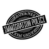 Immigration Policy rubber stamp. Grunge design with dust scratches. Effects can be easily removed for a clean, crisp look. Color is easily changed Stock Photo