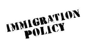 Immigration Policy rubber stamp. Grunge design with dust scratches. Effects can be easily removed for a clean, crisp look. Color is easily changed Stock Photography