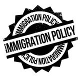 Immigration Policy rubber stamp. Grunge design with dust scratches. Effects can be easily removed for a clean, crisp look. Color is easily changed Royalty Free Stock Images