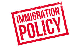 Immigration Policy rubber stamp. Grunge design with dust scratches. Effects can be easily removed for a clean, crisp look. Color is easily changed Royalty Free Stock Photo