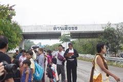 Immigration in Prachuap Khiri Khan Thailand - February, 03, 2018. Free Trader Burmese Sales of fresh In front of immigration   Prachuap Khiri Khan Province Stock Photo