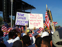 Immigration Protest Royalty Free Stock Photo
