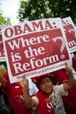 Immigration-Protest am Weißen Haus lizenzfreies stockbild