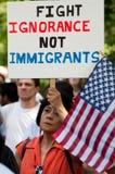 Immigration-Protest am Weißen Haus Lizenzfreies Stockfoto