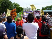 Immigration Protest at the White House Royalty Free Stock Photo