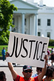 Immigration Protest at White House Royalty Free Stock Images