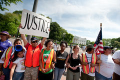 Immigration Protest at White House Stock Photography
