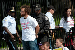 Immigration Protest at White House Stock Images