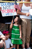 Immigration Protest at White House Royalty Free Stock Photo