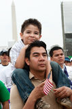 Immigration Rally in Washington Stock Image
