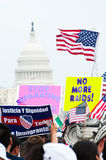 Immigration Rally in Washington Royalty Free Stock Photography