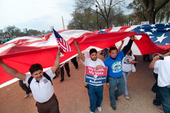Immigration Rally in Washington stock images