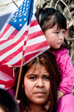 Immigration Rally in Washington Royalty Free Stock Images