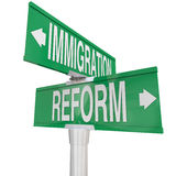 Immigration Reform Road Signs Changing Legal Residency Status Al Stock Photo