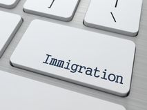 Immigration. Social Background. Stock Images