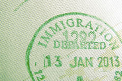 Immigration stamp Stock Photography