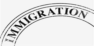 Immigration Stamp Stock Photo