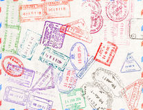 Immigration stamp. Passport Stamps Royalty Free Stock Photo