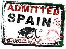 Immigration Stamp - Spain with stamps Stock Image