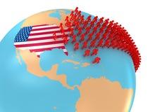Immigration vers les Etats-Unis illustration de vecteur