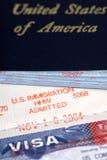 Immigration zugelassen Lizenzfreie Stockfotos