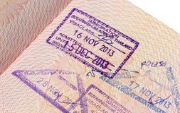 Immigrationsstempel von Suvarnabhumi-Flughafen herein Stockfoto