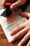 Immigrationsteuerung Lizenzfreies Stockbild
