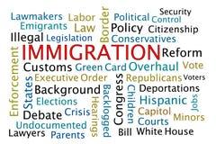 immigrazione illustrazione di stock