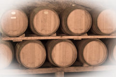 Immitation of Aged image of old winemakers cellar Stock Photo
