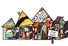 Immobiliënmarkt Stock Foto