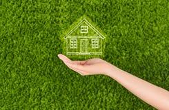 Immobiliarversicherungs- und Sicherheitskonzept Lizenzfreies Stockfoto