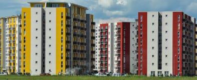 Immobilien, demographische Explosion, Ebenen von Blöcken Stockbild