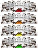 Immobilien des Fahnenführermarktes Stockfotografie