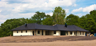 Immobilien des großen Privathauses im Bau Stockfotos