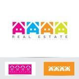 Immobilien färben Hauslogo Lizenzfreie Stockbilder