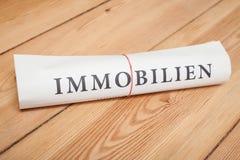 immobilien newspaper (german) Stock Image