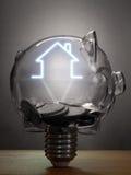 Immobilien oder Haupteinsparungen Stockbilder