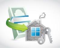 Immobilien setzen für Preis Konzeptillustration fest Lizenzfreie Stockfotos