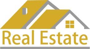 Immobilien- und Logobilder Stockfoto