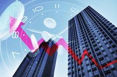 Immobilien und wirtschaftliche Entwicklung Stockfotos