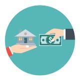Immobilien verkauft Auch im corel abgehobenen Betrag vektor abbildung