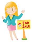 Immobilienagentur, die Haus verkauft Lizenzfreie Stockfotos