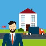Immobilienagentur-Flat-Design Stockbilder