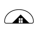 Immobilienbürosymbol des Bauträgervektors stilvolles kreativ Stockbild