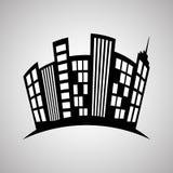 Immobiliendesign, Gebäude und Stadtkonzept, editable Vektor Lizenzfreie Stockfotografie